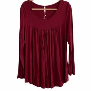 Red long sleeve tunic new with tags XL